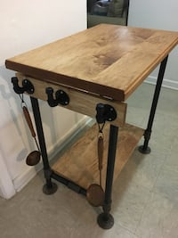 Maple Butcher block/cutting board pipe table/industrial style Virginia Beach, 23451