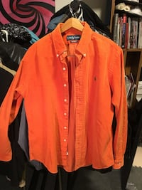 Ralph Lauren polo large custom fit orange corduroy button up ... comfortable and nice fit Toronto, M6J 1N9