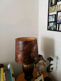 brown wooden base with white lampshade table lamp Catonsville, 21228