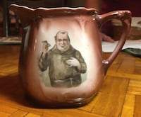 Antique Friar Tuck or Brown Monk pottery pitcher Burbank, 91506