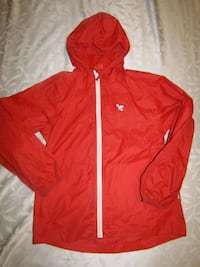 Girls 8-9 red rain jacket London