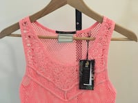 PINK MAISON SCOTCH TANK TOP KNIT CROCHET WOMENS CLOTHING SIZE MEDIUM Edmonton, T6J