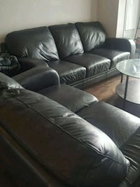 2 seat & 3 seat leather couch  Toronto, M9A 0A4