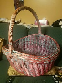 brown wicker basket with mint condition