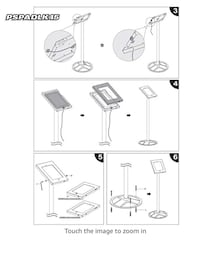 New in box Floor Stand Kiosk/Holder/Display Case for iPad 2/3/4
