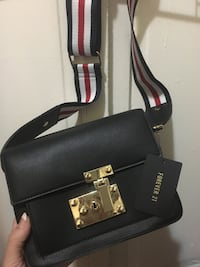 Black, white, and red crossbody bag from forever 21