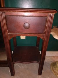 Old vintage one drawer side table Knoxville