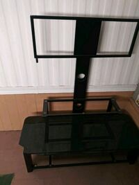 black glass TV stand with mount 761 mi