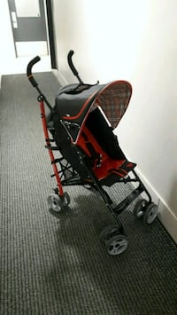 black and red stroller light weight  Toronto, M6P 2L4
