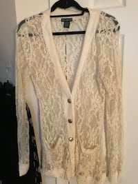 White floral illusion lace  cardigan Centreville, 20120