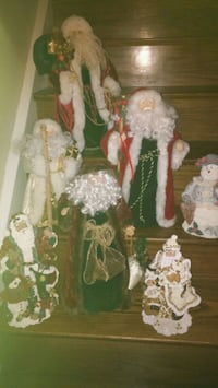 7 Santas for sale Decorate mantels&stairs