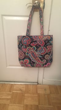 Women's black and pink paisley print tote bag Winchester, 22601