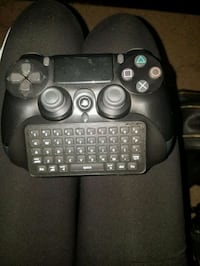 Playstation controller with keyboard  attachment