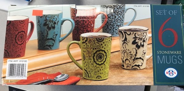 Used BIA 6 PC Ceramic Mug Set - @ The Parkway Outlet for sale in ...