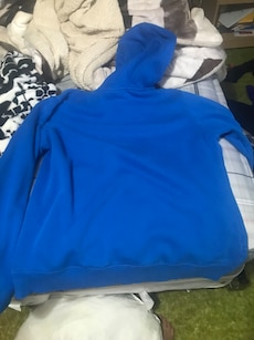 Blue Under Armour pull-over hoodie