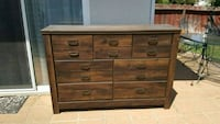 brown wooden 6-drawer lowboy dresser Fresno, 93703