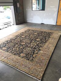 Brown and black floral area rug Mc Lean, 22102