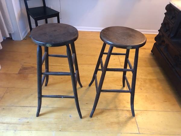 Swell Used Pair Of Antique Wooden Stools For Sale In Milwaukee Letgo Gmtry Best Dining Table And Chair Ideas Images Gmtryco