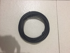 rolled black cable