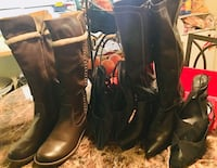 Women's size 10 boots and pumps 4 pairs in great condition located off jones and lake mead area $5 for all Las Vegas, 89108