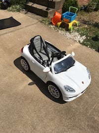 Toddler's white ride on car