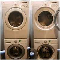 White stackable Lg washer and dryer  Pickering, L1V 6P5