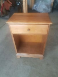 brown wooden single-drawer end table Edmonton, T6X 1A2