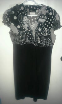 women's black and white polka dot dress Waterloo