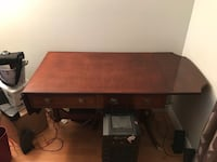 brown wooden single pedestal desk Surrey, V4N 5A4