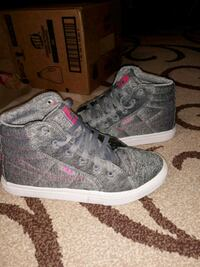 pair of gray Vans high top sneakers Oxon Hill, 20745