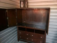 brown wooden TV hutch with flat screen television Norfolk, 23505