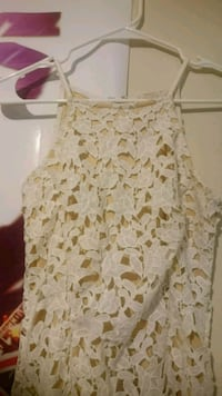 women's white and brown floral sleeveless top Avon, 46123
