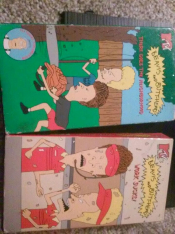 Beavis and Butthead VHS tapes