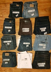 assorted color denim bottoms lot Langton, N0E 1G0