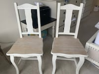 White wooden table with chairs Mc Lean, 22102