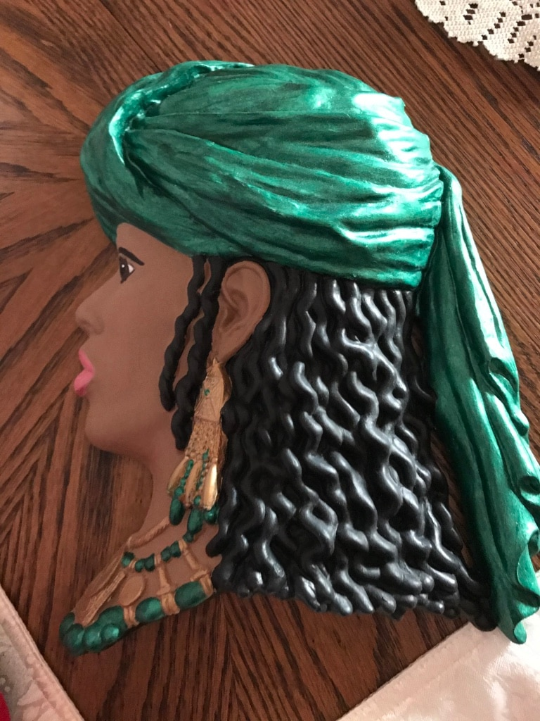 Photo Hand painted African-American head wall hanging life-size