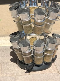 Spice holder with spices. $7.00. You pick up. Cash only North Las Vegas, 89084