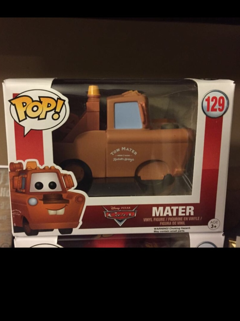 "Pop! Disney Cars ""Mater"" #129 vinyl figure in box"