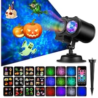 Brand New In Box Halloween Decoration Projector Lights with 12 Slides 10 Colors for Holidays, 2 in 1 Decorative Water Wave Light Waterproof Outdoor Indoor Landscape Lights for Christmas Wedding Birthday Party Hayward, 94544