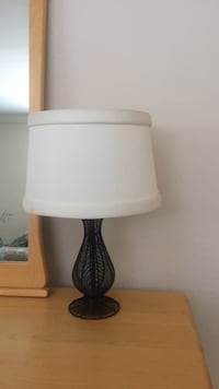 Black wooden based lamp shade