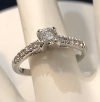 14k white gold custom crafted diamond engagement ring *Compare @$2,200 Vaughan, L4J 3M8