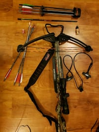 Ten point wicked ridge crossbow and extras