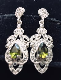 Beautiful vintage sterling silver and gem earrings! Silver Spring, 20904