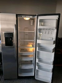 gray side-by-side refrigerator Clark County