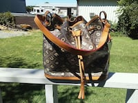 brown and black leather Louis Vuitton tote bag Kennewick, 99336