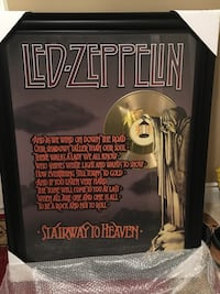 Led Zeppelin stairway to heaven album cover framed with lyrics  Vaughan, L4L 8S2