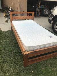 Twin bed with frame and mattress included