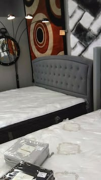 Beautiful grey tufted headboard and frame! Indianapolis
