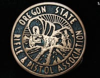 Oregon rifle and pistol association belt buckle