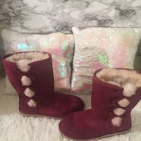 New! Koolaburra by Ugg! Tall wine suede boots 41 km